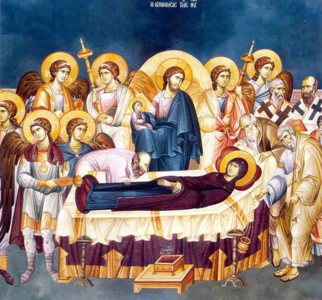 Ἡ   Κοίμησις τῆς Θεοτόκου  καί  οἱ  εὐεργεσίες της