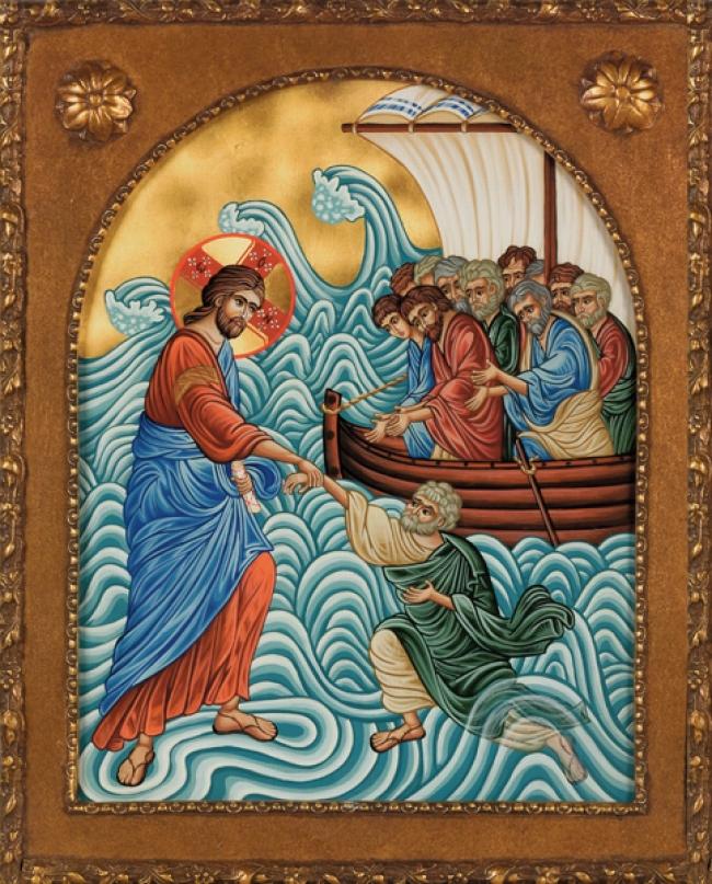 Κυριακή Θ΄ Ματθαίου - Η ακράδαντη πίστη στο Χριστό θα μας κρατήση όρθιους στα άγρια κύματα της ζωής, του μακαριστού Μητροπολίτου Φλωρίνης π. Αυγουστίνου Καντιώτου