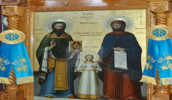 Λιτανεία της Τιμίας Κάρας του Αγίου Ραφαήλ - Καρυές Θερμής Λέσβου - 3/5/2016